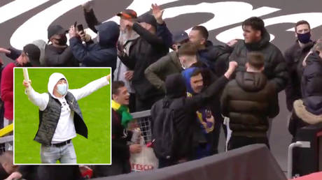 Furious Manchester United fans storm Old Trafford hours before Liverpool Premier League match in anti-Glazer protest (VIDEOS)