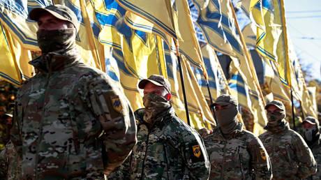 FILE PHOTO: A nationalist march in Ukraine. © Reuters/ Valentyn Ogirenko