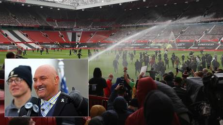 Furious Manchester United fans stormed Old Trafford, while NFL pundit Jay Glazer was the victim of mistaken identity. © Action Images via Reuters / USA  TODAY Sports