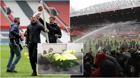 Manchester United have vowed to punish any fans who were guilty of offences. Reuters / Twitter @ManUnited_Now