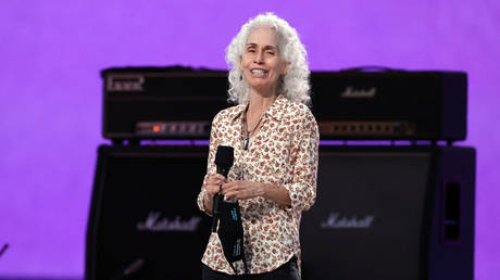 Los Angeles County Health Agency Public Health Director Dr. Barbara Ferrer speaks onstage during Global Citizen VAX LIVE