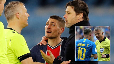 Reffing and blinding: PSG stars moan that no-nonsense Champions League ref, who has previous with Neymar, told them to 'f*** off'
