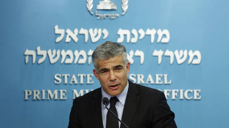 FILE PHOTO. Yair Lapid in Jerusalem.