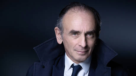 Eric Zemmour poses during a photo session in Paris on April 22, 2021.