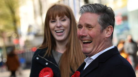 Labour Party leader Keir Starmer with deputy party leader Angela Rayner
