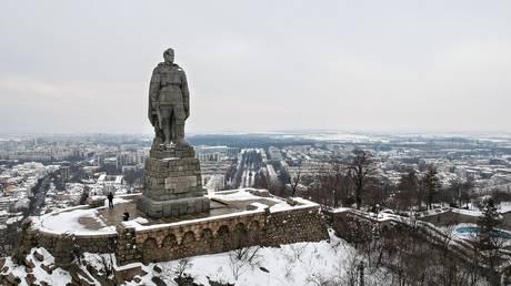 A monument to the Soviet soldier-liberator (Alyosha monument) on Bunarjik Hill ('Liberators' Hill) in Plovdiv, Bulgaria.