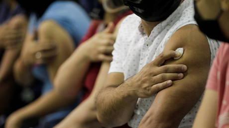 FILE PHOTO: Vaccination against coronavirus disease (COVID-19) in San Nicolas de los Garza, Mexico