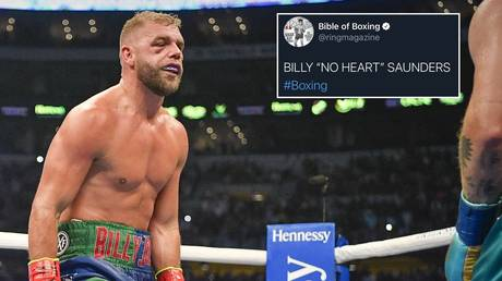 'A horrible error': Ring Magazine apologizes after tweet declares Billy Joe Saunders has 'no heart' in wake of Canelo defeat