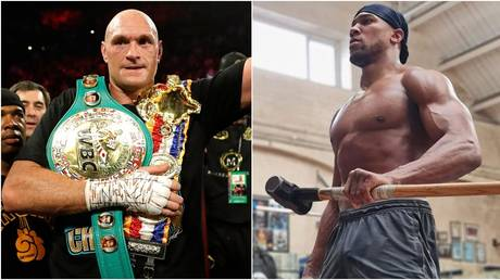 Fury and Joshua traded shots on social media. ©  Reuters / Instagram @anthonyjoshua