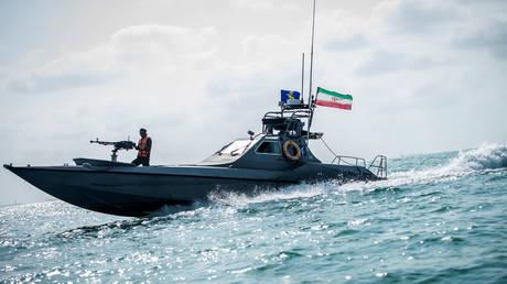 FILE PHOTO. A boat of the Iranian Revolutionary Guard.