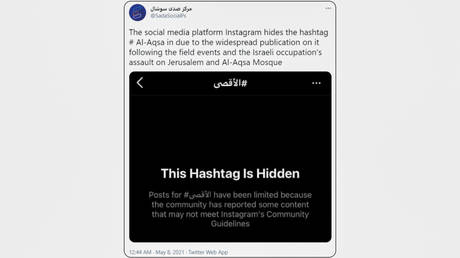 Instagram & Twitter apologize for 'system errors' that deleted pro-Palestine posts, but critics say they are still 'censoring' - rt