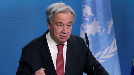 FILE PHOTO. U.N. Secretary-General Antonio Guterres in Berlin, Germany. © Reuters / Michael Sohn