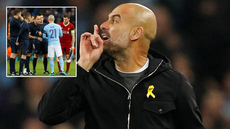 Man City boss Pep Guardiola will meet an official he has not always agreed with in the Champions League final © Action Images via Reuters / Jason Cairnduff   Darren Staples / Reuters