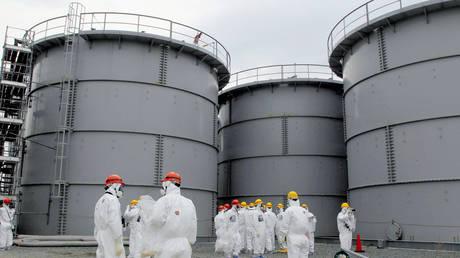 FILE PHOTO. Tanks of radiation-contaminated water in Fukushima prefecture, Japan. © Reuters / Kyodo
