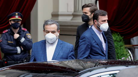 Iranian Deputy Foreign Minister Abbas Araqchi after a meeting of the JCPOA Joint Commission, in Vienna, Austria, May 19, 2021