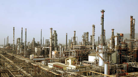 A view of Bharat Petroleum Corporation Ltd refinery is seen in Mumbai, India.