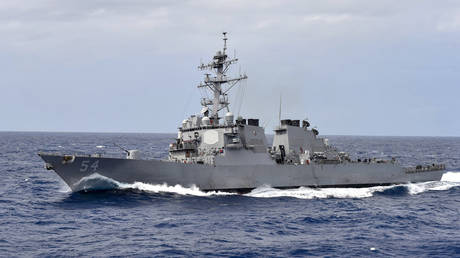 FILE PHOTO. The US Navy destroyer USS Curtis Wilbur.