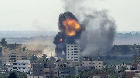 Gaza City Rimal residential district on May 20, 2021. © AFP / BASHAR TALEB