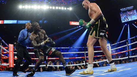 Tyson Fury (right) has warned Deontay Wilder about a trilogy boxing match © Joe Camporeale / USA Today Sports via Reuters