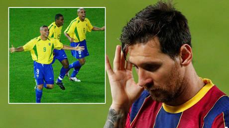 Lionel Messi (right) has namechecked Ronaldo and Roberto Carlos © Pawel Kopczynski / Reuters | © Albert Gea / Reuters