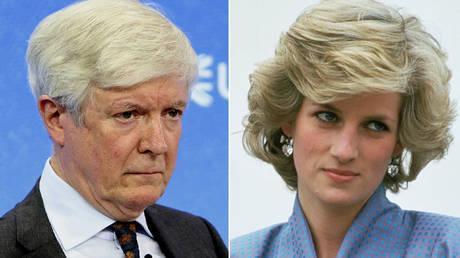 (L) Lord Tony Hall © Wikipedia; (R) Princess Diana © Tim Graham Photo Library via Getty Images