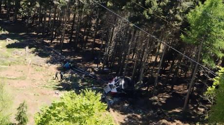 The crash site. Image coutesy of Vigili del Fuoco