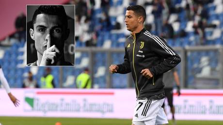 Ronaldo started on the bench for Juve's final match of the season. © Reuters / Instagram @cristiano