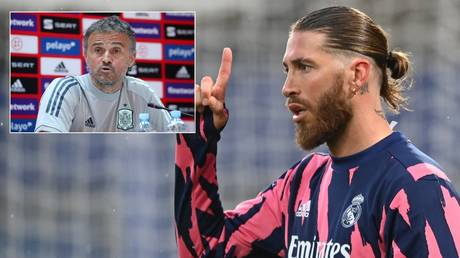 Sergio Ramos responded after Spain boss Luis Enrique left him out of the Euro 2020 squad. © Reuters