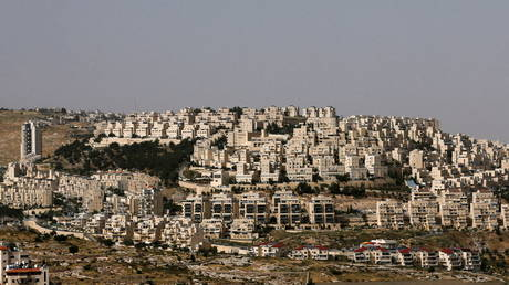 FILE PHOTO: The Israeli settlement of Har Homa is seen in the Israeli-occupied West Bank.