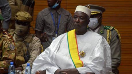 FILE PHOTO. The interim president of Mali Bah Ndaw.