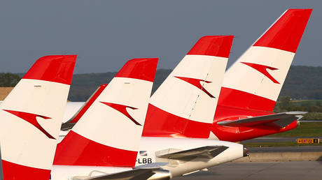 FILE PHOTO. Austrian Airlines planes pictured in Vienna.