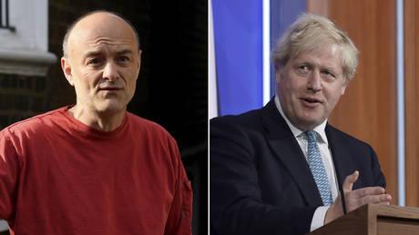 (L) Dominic Cummings © REUTERS / Toby Melville; (R) Boris Johnson © Matt Dunham / Pool via REUTERS