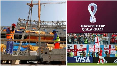 There have been calls for a boycott of Qatar 2022 due to migrant worker deaths. © Reuters