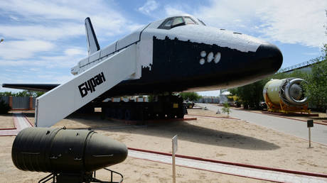 FILE PHOTO. The Buran space shuttle at the Museum of Baikonur Cosmodrome History located in the Culture Palace of Baikonur city, Kazakhstan. © Sputnik