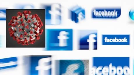 Facebook will no longer censor claims SARS-CoV-2 virus (inset) is man-made