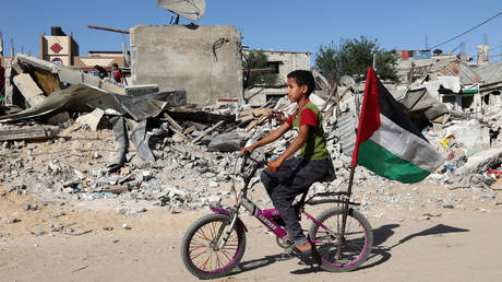Rafah, in the southern Gaza Strip, on May 26, 2021