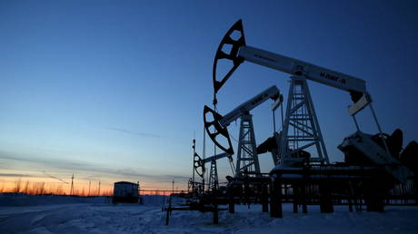 Pump jacks are seen outside the West Siberian city of Kogalym, Russia,