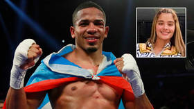 Boxing star 'wanted by authorities over missing woman who was last seen at his home telling him she was pregnant with his baby'