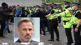 'Any supporter would have done it': Ex-pro Carragher backs United protest despite reports of 'serious clashes with police' (VIDEO)