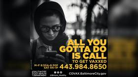 Want fun? GET VAXXED! Nagging Covid-19 ad campaign targets reticent Baltimore residents