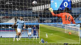 Aguero ridiculed for HORRENDOUS Panenka penalty miss in Man City-Chelsea Premier League clash (VIDEO)