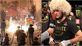 'Taking vengeance because they believe in Allah': Khabib says 'pray for Palestine' as he shares footage of mosque clashes