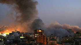 Gaza tower block COLLAPSES after Israeli airstrikes respond to Hamas rockets – reports (VIDEOS, PHOTOS)