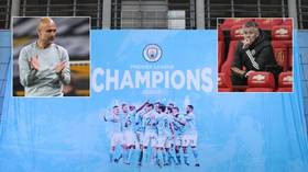 Bowing to the inevitable: Man City crowned Premier League champions for third time in four seasons as rivals Utd lose to Leicester