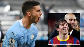 Lionel Messi landmark tumbles after sensational Premier League hat-trick by Pep Guardiola's latest Manchester City prodigy (VIDEO)