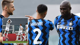 'Celebration of the year': Lukaku appears to act out police arrest for Covid breach as Ronaldo keeps dream alive in dramatic derby