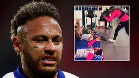 'What a mess': Neymar moans about Coupe de France final ban... then has wet towel hurled in face in cruel prank by Mbappe (VIDEO)