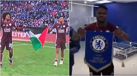 Leicester duo salute FA Cup win with Palestinian flag as teammate accused of 'disrespecting' Chelsea in celebrations (VIDEO)