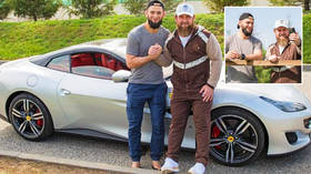 Kham to Chechnya: UFC's Chimaev chills with leader Kadyrov and MMA fighters in his homeland... and eyes another luxury car (VIDEO)