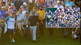 'No one gave a sh*t': Rival angered by raucous crowd which mobbed Mickelson as he was crowned oldest ever Major winner (VIDEO)